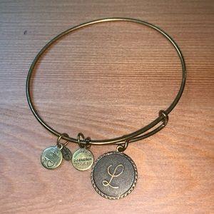 """Alex and Ani """"L"""" bracelet"""